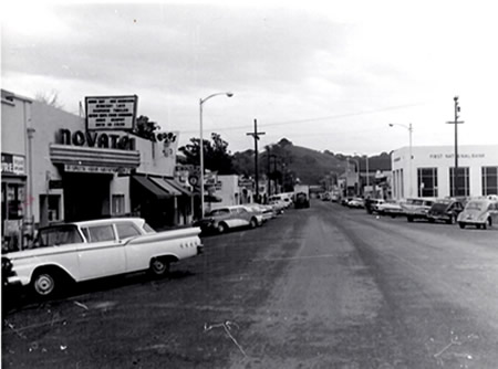 Novato's Grant Avenue in the 1950's